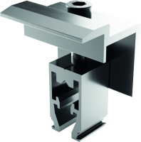 End clamp 30-40mm Silver